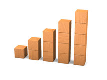 Growth made of wooden blocks Royalty Free Stock Photo