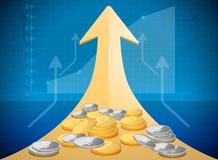 Growth market chart Stock Photos