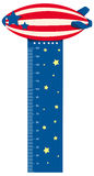 Growth measuring chart with balloon flying. Illustration Stock Images