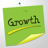 Growth Message Indicates Note Expand And Improve Stock Photography