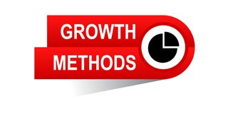 Growth methods banner. Commerce concept web banner icon on isolated white background - vector eps illustration Stock Images