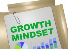 Growth Mindset concept. 3D illustration of GROWTH MINDSET title on business document Stock Images