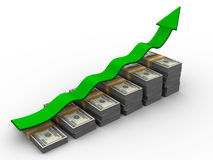 Growth of money Stock Image