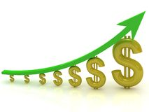 Growth of money Royalty Free Stock Photo