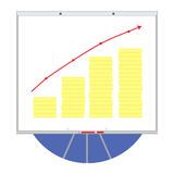Growth money icon graph Royalty Free Stock Photo