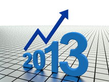 Growth in new year 2013 Royalty Free Stock Image