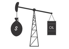Growth of oil prices royalty free illustration
