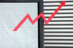 Growth of online business Stock Photography
