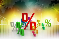 Growth percentage. In attractive background Stock Image