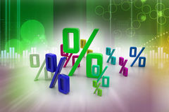 Growth percentage. In attractive background Royalty Free Stock Image
