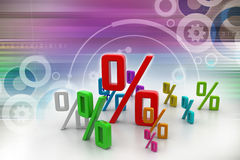 Growth percentage. In color background Stock Photo
