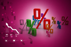 Growth percentage. In color background Royalty Free Stock Images