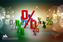 Growth percentage. In color background Stock Image