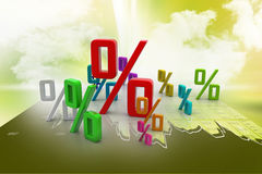 Growth percentage. In color background Stock Photos