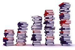 Growth piles of archive binders Stock Images