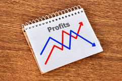 Growth of profits Royalty Free Stock Photos
