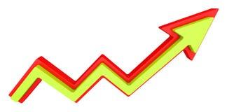 Growth progress arrow. Isolated on white Stock Image