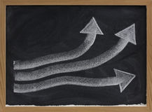 Growth or progress concept on blackboard Stock Photo
