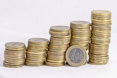 Growth rate of the Euro Royalty Free Stock Photos