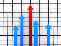 Growth rates Royalty Free Stock Photo