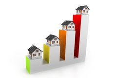 Growth in real estate graph Stock Photos