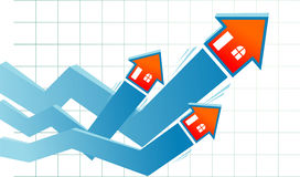 Growth Real Estate Graph Royalty Free Stock Photo