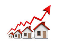 Growth in Real Estate Illustration Royalty Free Stock Image