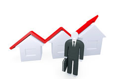 Growth of real estate sales Stock Photo