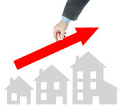 Growth of the real estate sales level. Abstract conceptual image Royalty Free Stock Photography