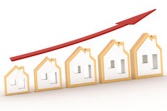 Growth in real estate shown on graph Royalty Free Stock Image