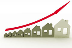 Growth in real estate shown on graph Royalty Free Stock Photo
