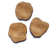 Growth rings on a tree stump Stock Photos