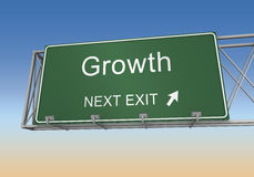 Growth road sign Royalty Free Stock Photos