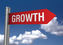 Growth road sign Stock Image