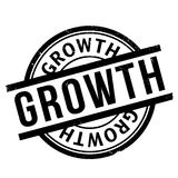 Growth rubber stamp Stock Images