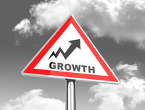 The growth sign Stock Photo