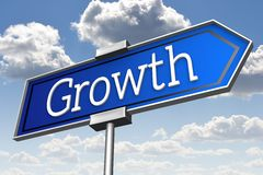 Growth signpost... Royalty Free Stock Photos