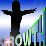 Growth silhouette  Royalty Free Stock Image