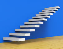 Growth Stairs Shows Staircase Upwards And Ascend Stock Photo