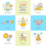 Growth and start up concepts icons Royalty Free Stock Photo