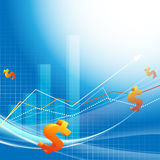 Growth statistic financial frame. Eps10 Royalty Free Stock Image