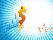 Growth statistic financial frame. Eps10 Stock Photo