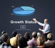 Growth Status Data Development Business Concept Stock Image