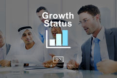 Growth Status Technology Online Website Concept Stock Image