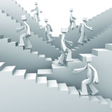 Growth and steps to success concept Royalty Free Stock Photo