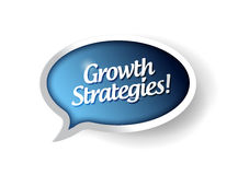 Growth strategies message communication bubble Royalty Free Stock Images