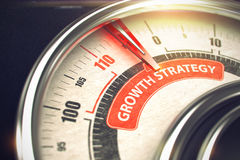 Growth Strategy - Business Mode Concept. 3D. Royalty Free Stock Photography