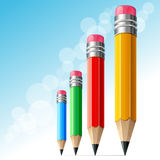 Growth and Success. Multicolored pencils depicting Growth and Success Royalty Free Stock Images