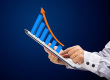 Growth on a tablet Stock Photo