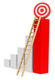 The growth target Royalty Free Stock Photo